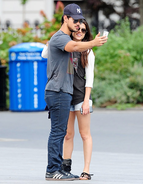 Taylor Lautner Marie Avgeropoulos Go Public And Hold Hands