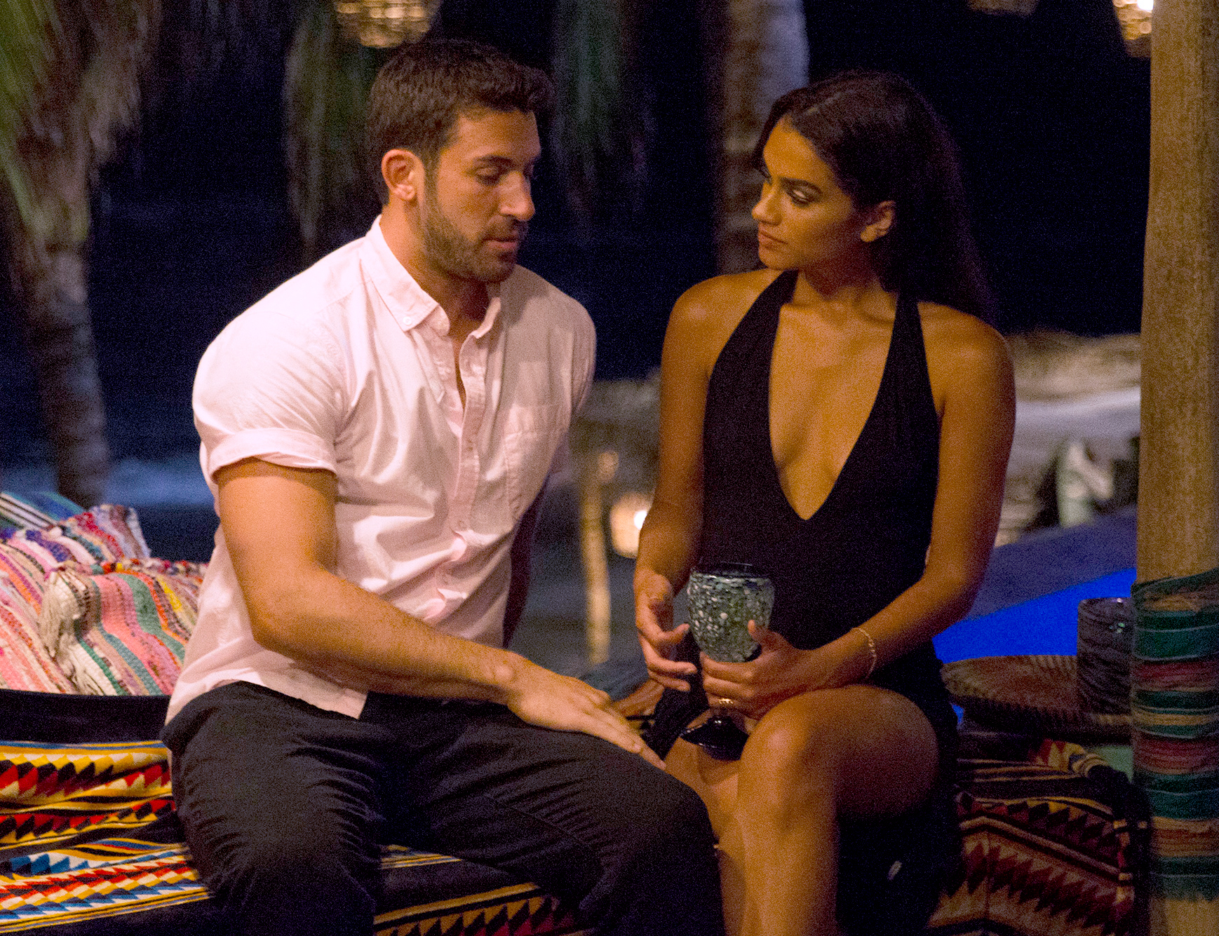 Derek and Taylor on Bachelor In Paradise.