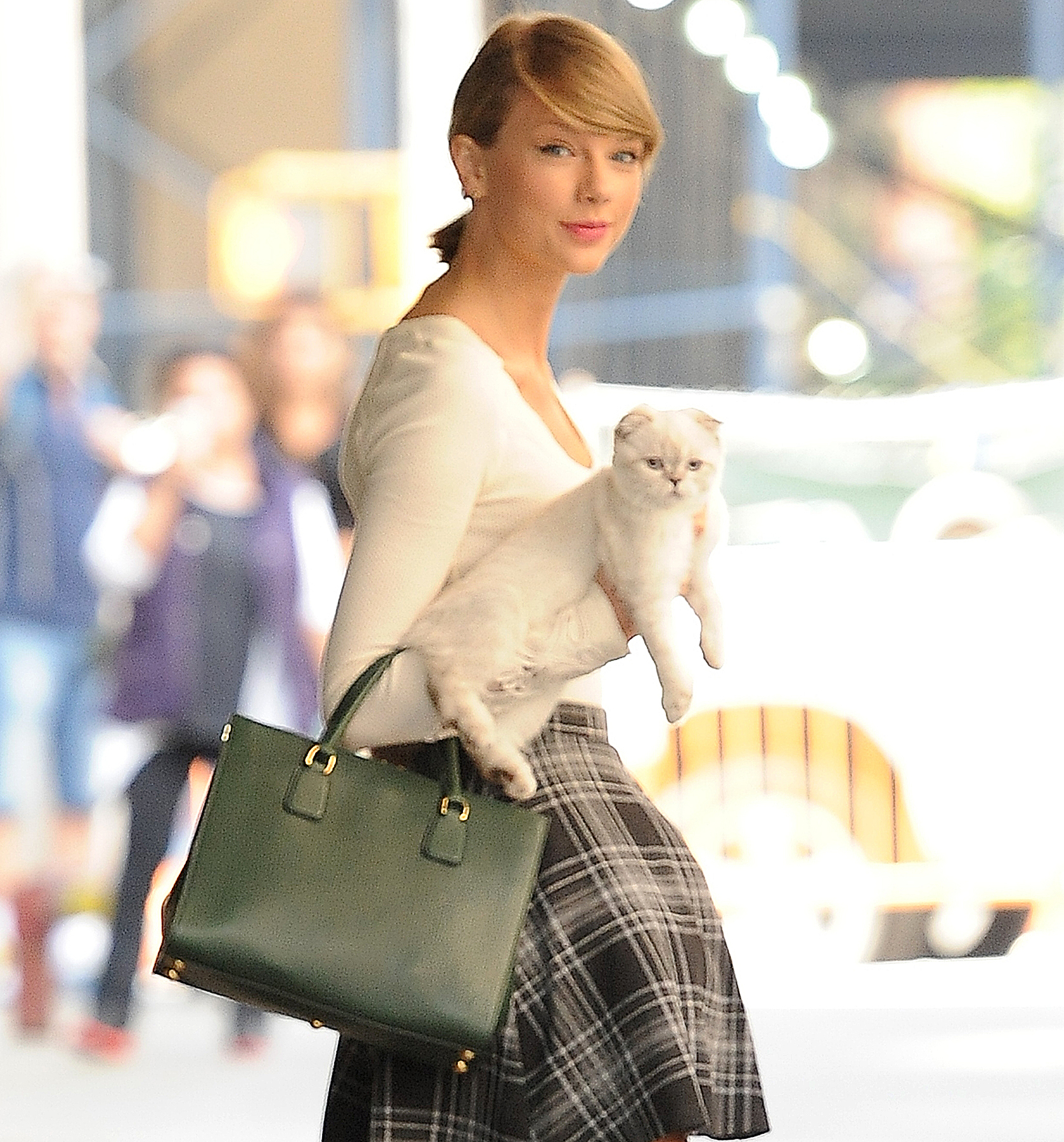 Taylor Swift and Olivia in 2014.