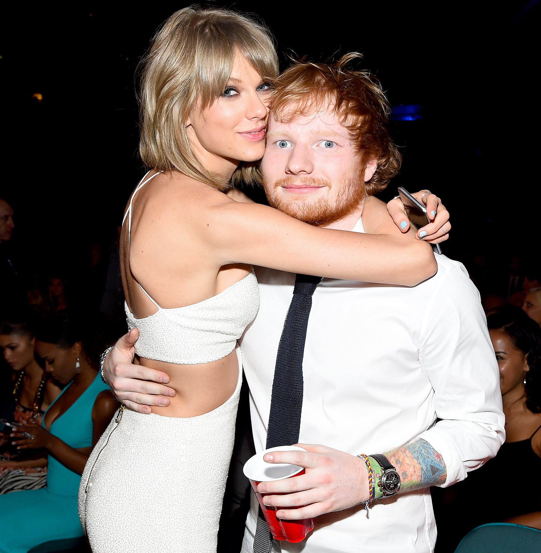 Taylor Swift and Ed Sheeran attend the 2015 Billboard Music Awards at MGM Grand Garden Arena on May 17, 2015 in Las Vegas, Nevada.
