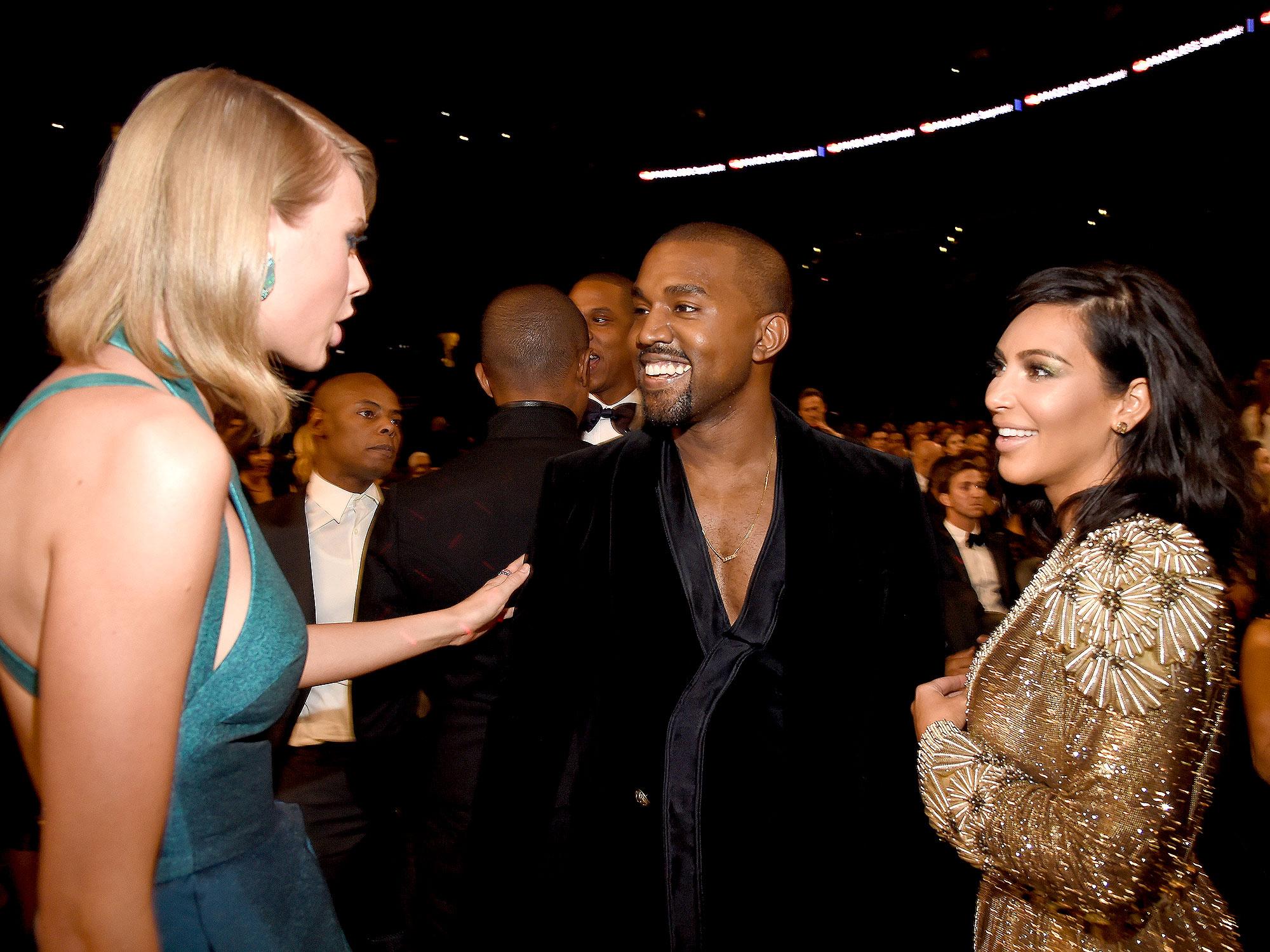 Taylor Swift, Kanye and Kim Kardashian