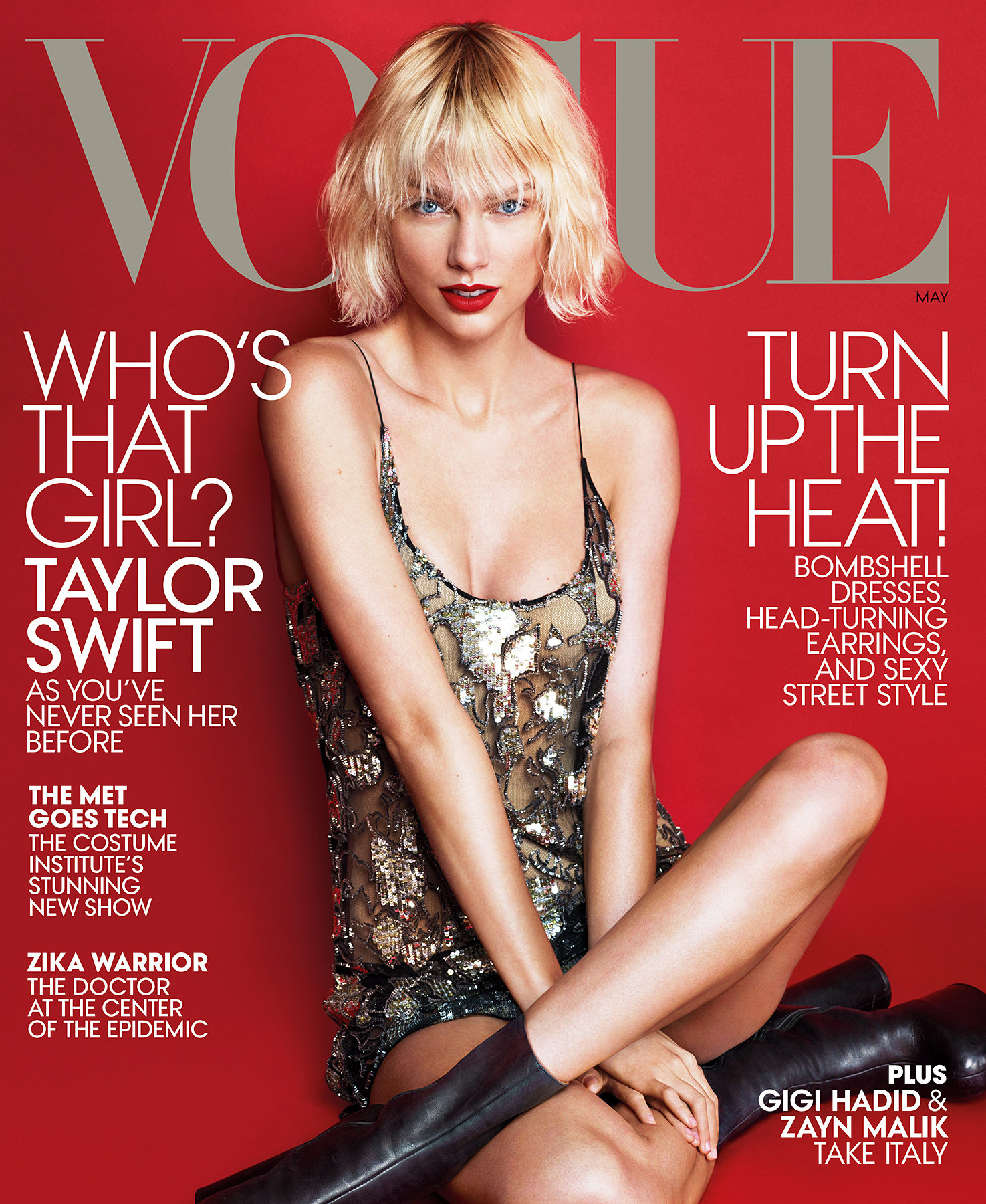Taylor Swift on the cover of 'Vogue.'