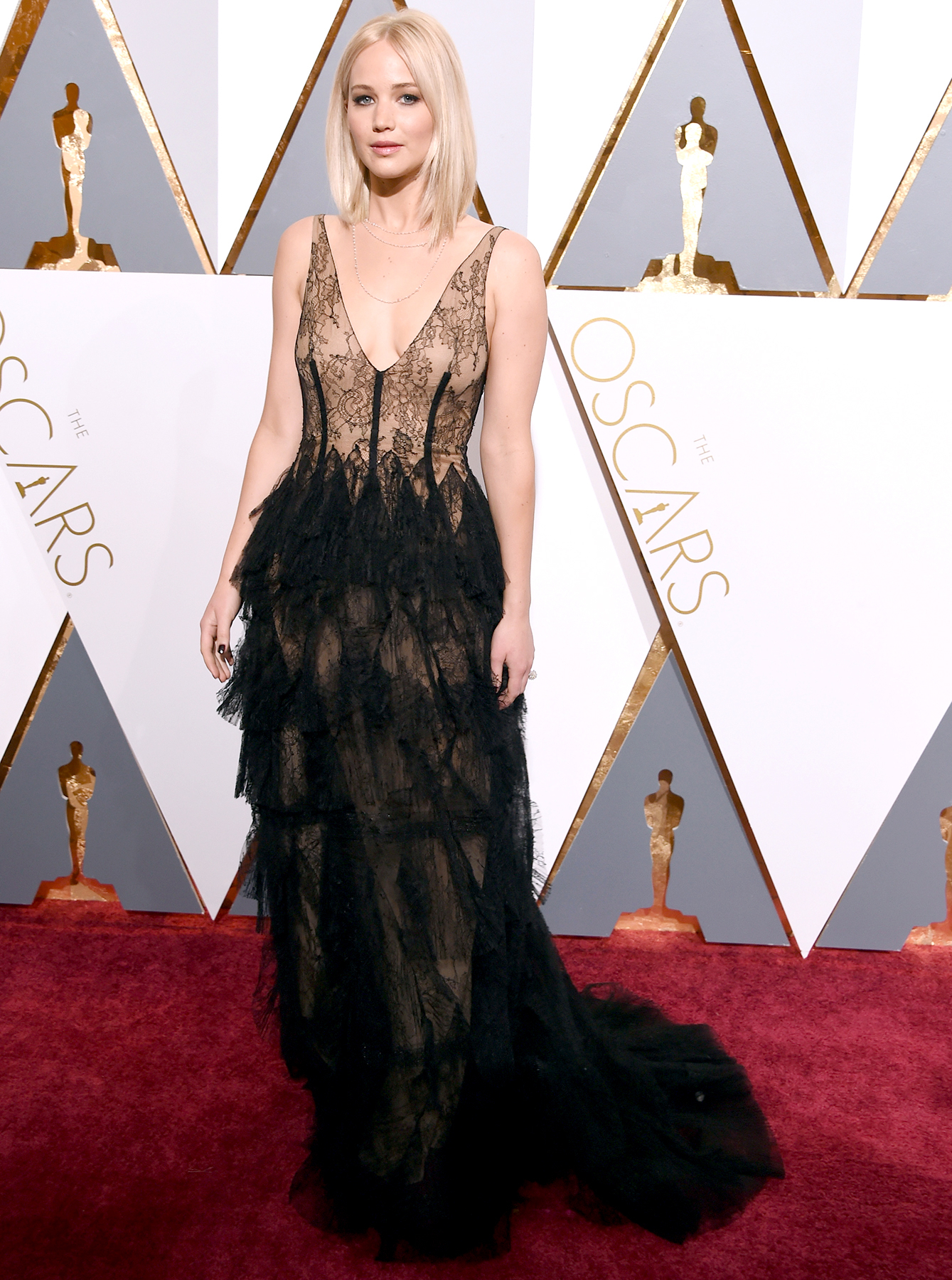 Jennifer Lawrence attends the 88th Annual Academy Awards.