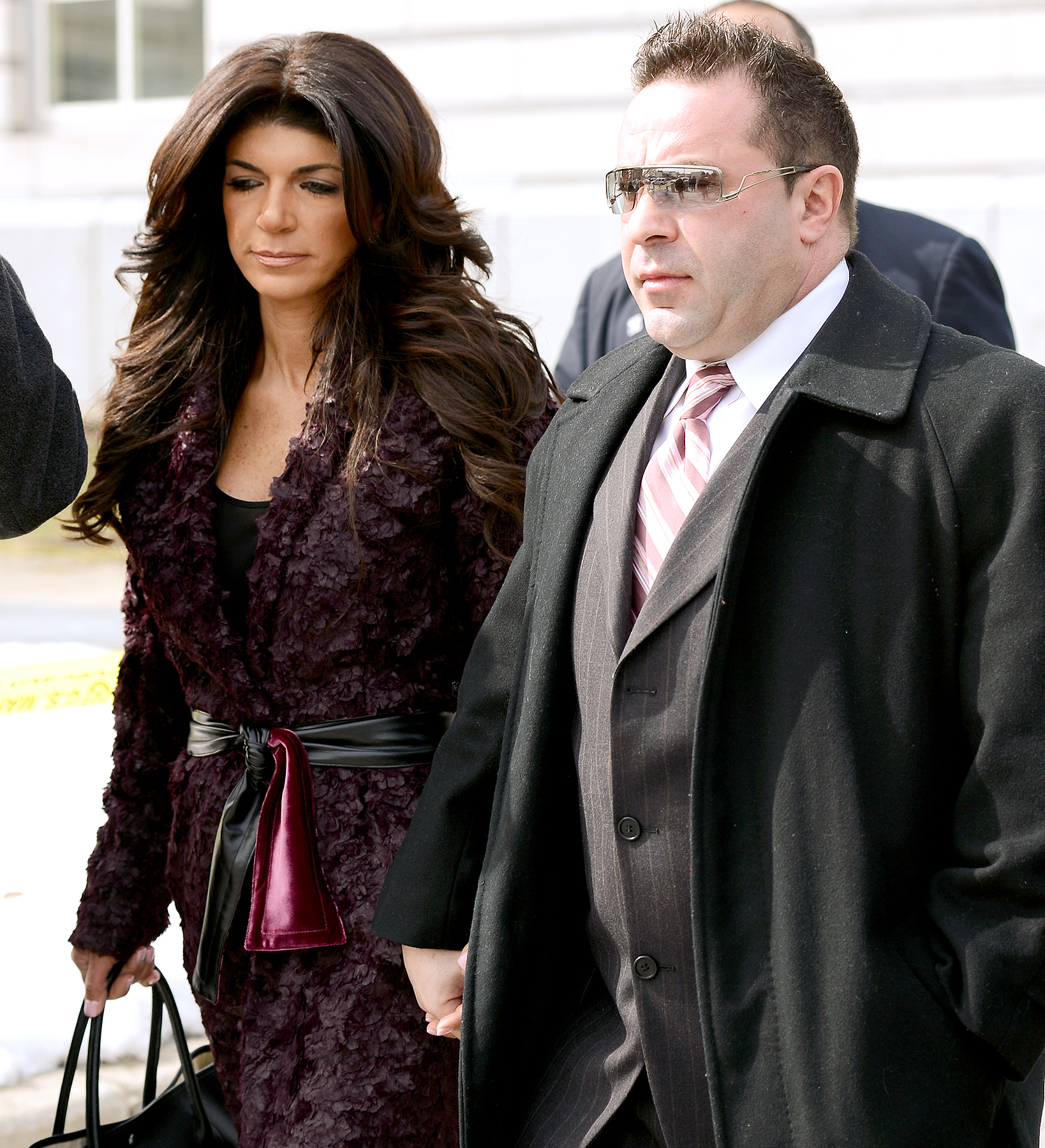 Teresa and Joe Giudice are photographed at Newark New Jersey Federal Criminal Court March 4, 2014.