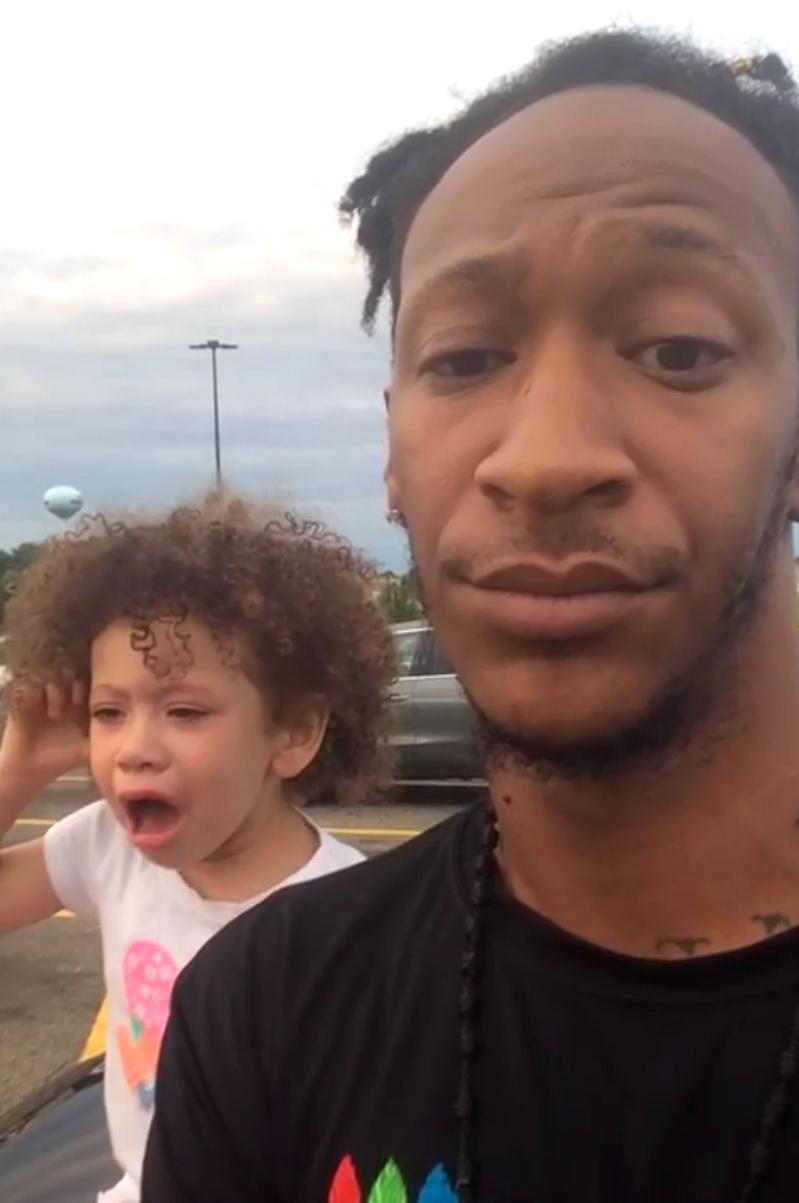 Terrel Crawford and his 3-year-old daughter Ari