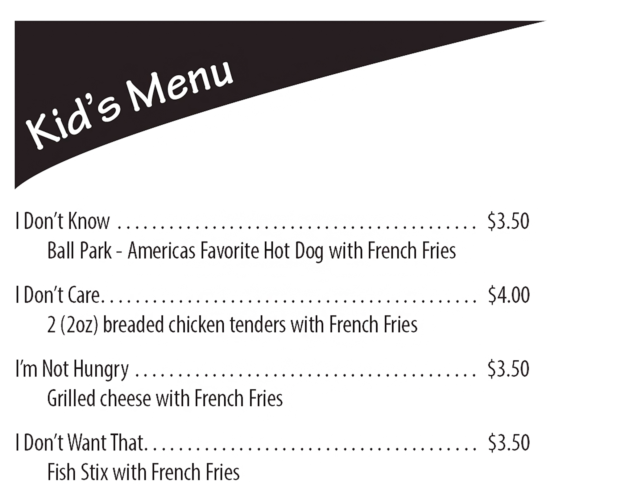The Deli Mansion Park Menu