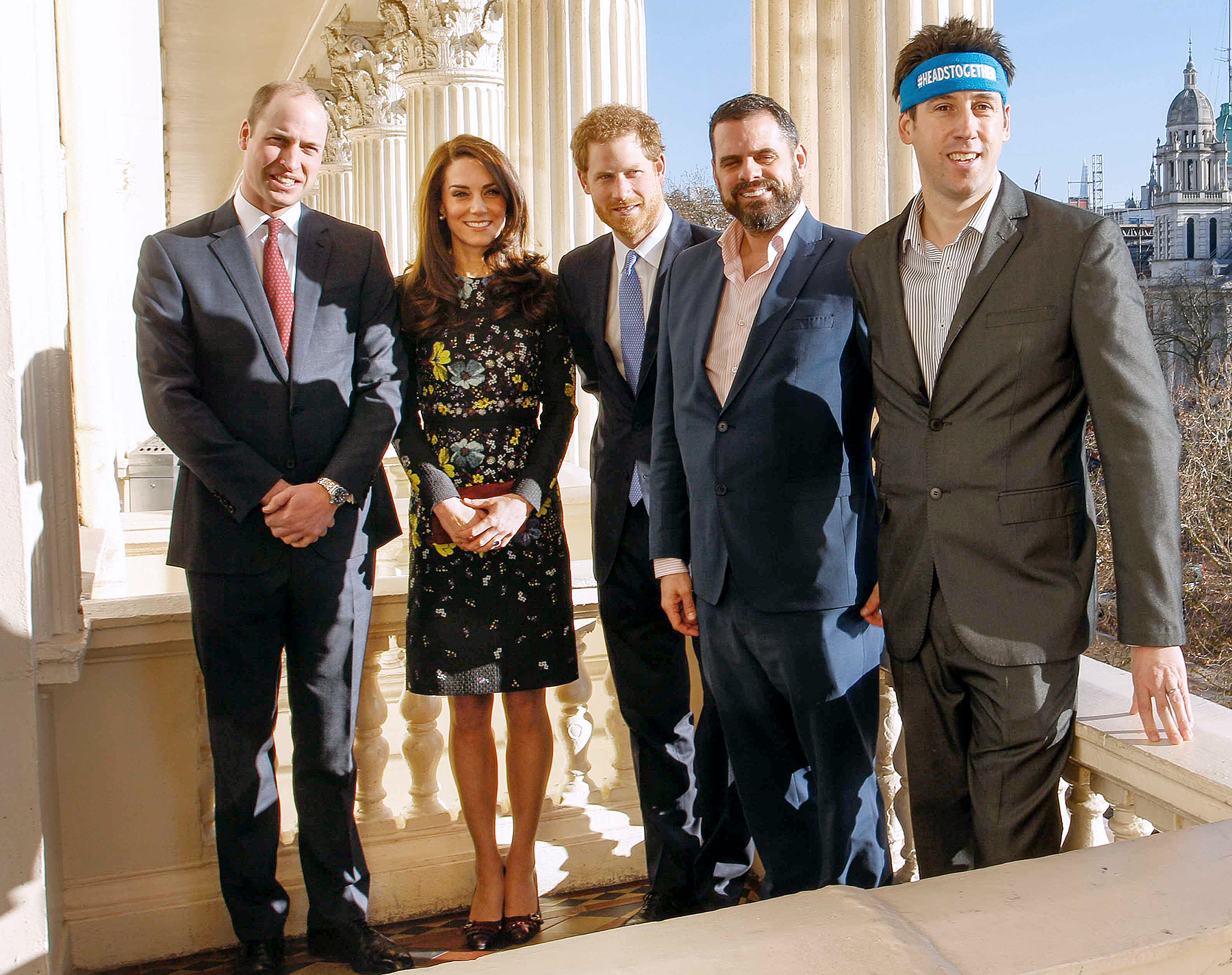 Prince William, Kate Middleton, Prince Harry, Steve Jackson and Jon Salmon