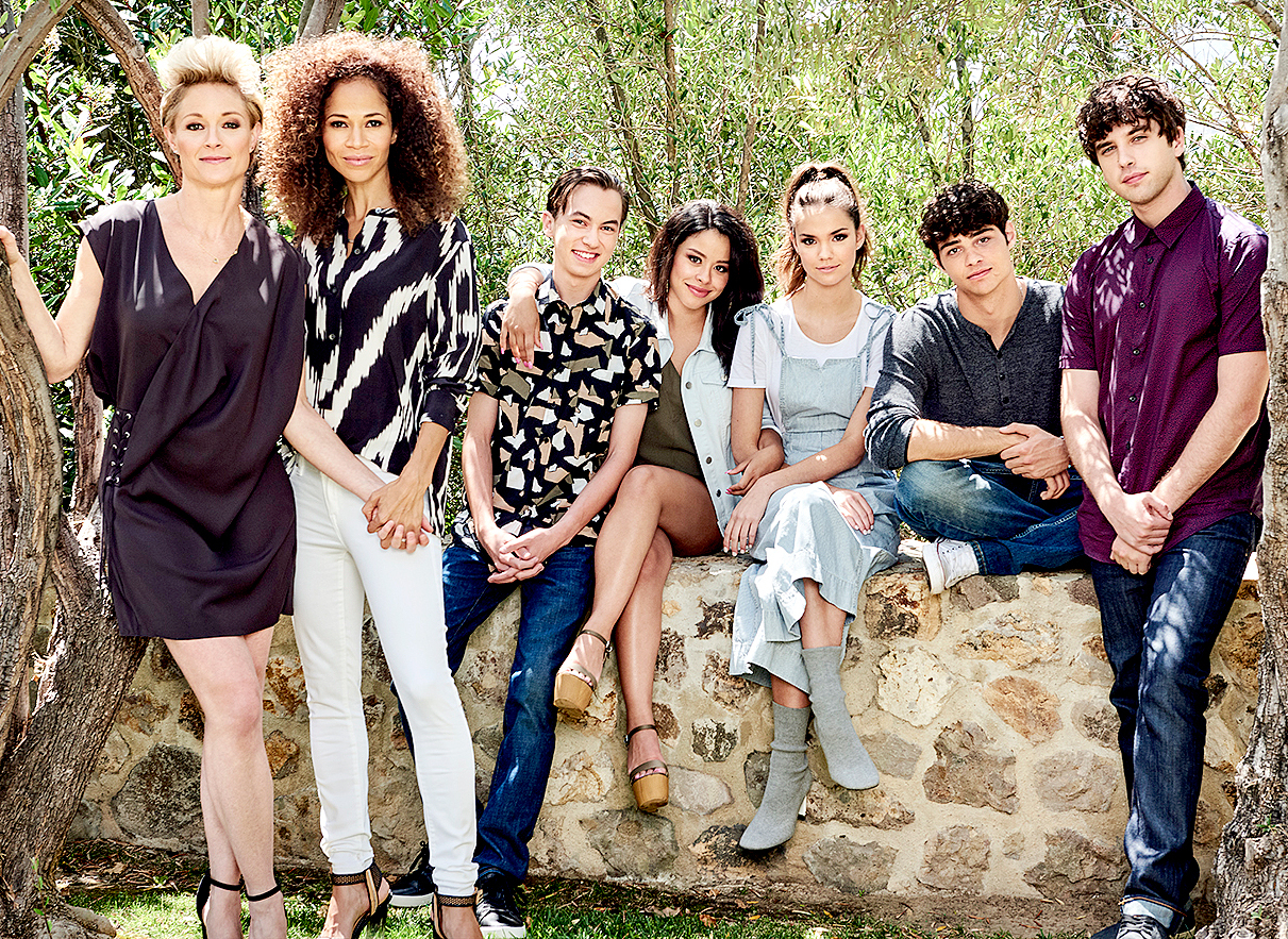 'The Fosters' stars Teri Polo as Stef, Sherri Saum as Lena, Hayden Byerly as Jude, Cierra Ramirez as Mariana, Maia Mitchell as Callie, Noah Centineo as Jesus and David Lambert as Brandon.