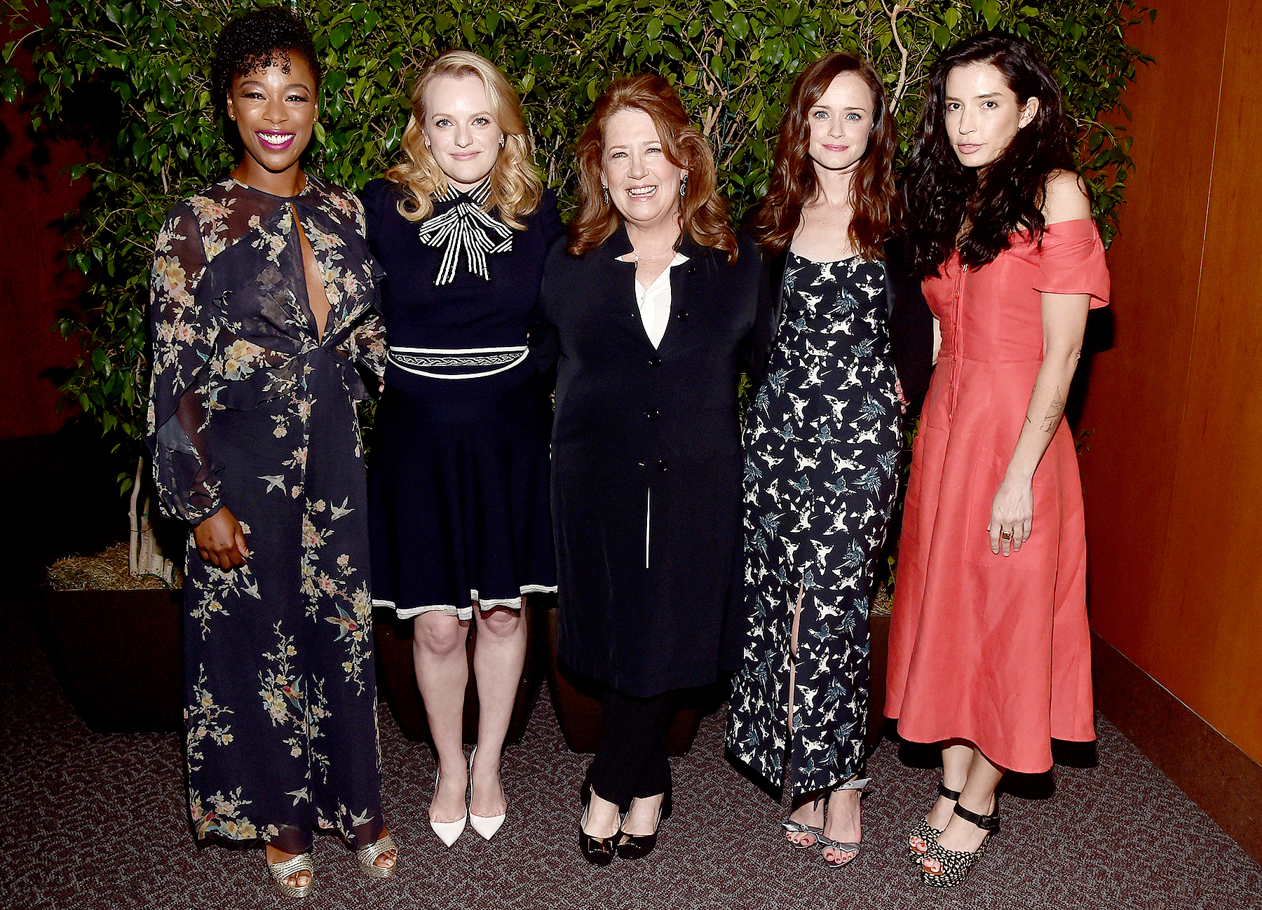 "Samira Wiley, Elisabeth Moss, Ann Dowd, Alexis Bledel and director Reed Morano attend the after party for the FYC event for Hulu's ""The Handmaid's Tale"" on August 14, 2017 in Los Angeles, California."
