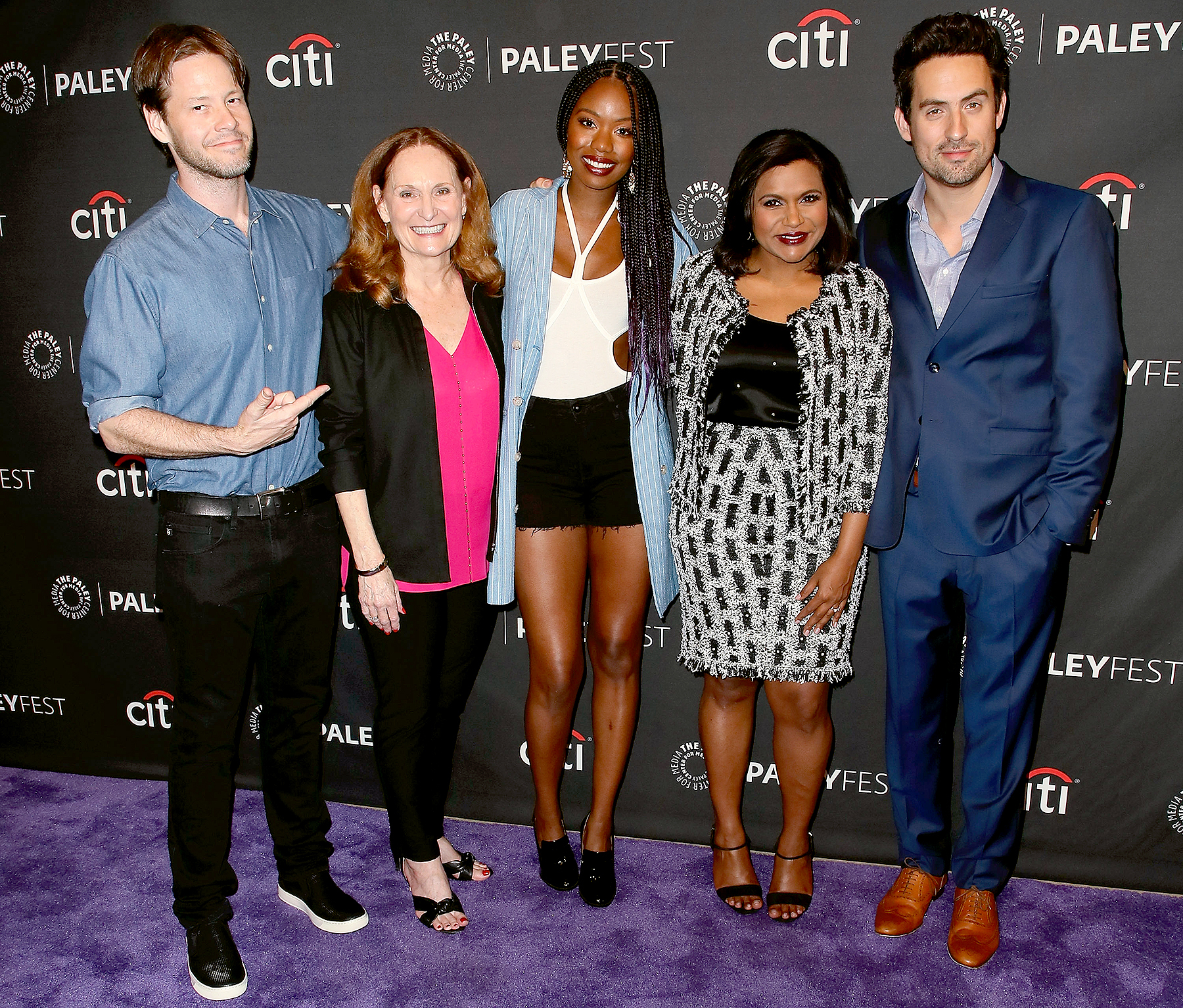 Ike Barinholtz. Beth Grant, Xosha Roquemore, Mindy Kaling and Ed Weeks attend The Paley Center for Media's 11th Annual PaleyFest fall TV previews Los Angeles for Hulu's The Mindy Project at The Paley Center for Media on September 8, 2017 in Beverly Hills, California.