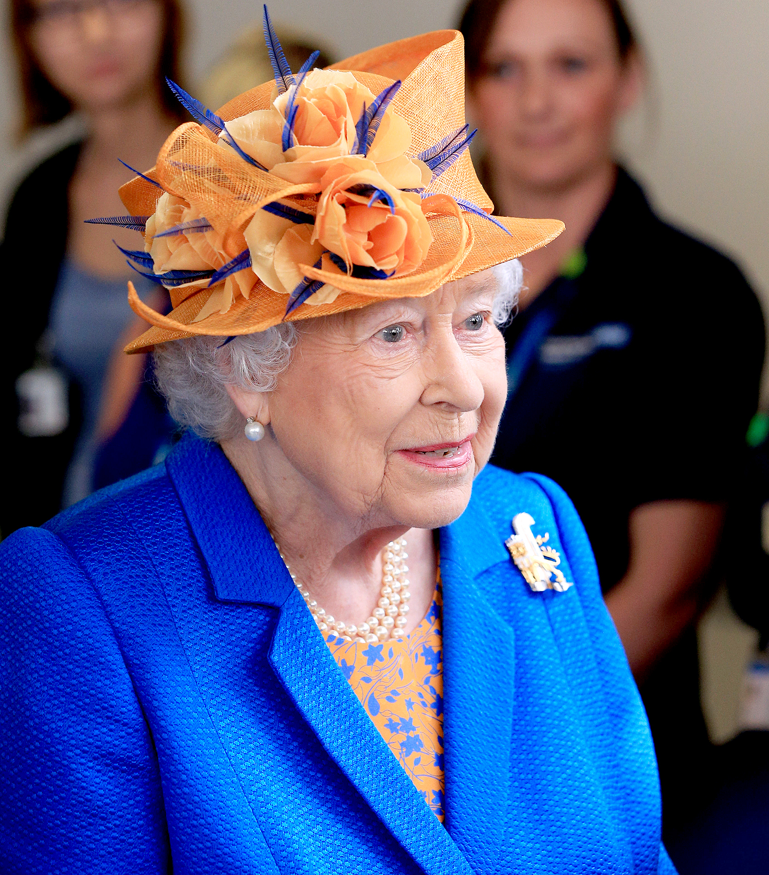 Queen Elizabeth II during a visit to the Royal Manchester Children's Hospital on May 25, 2017 in Manchester, England.