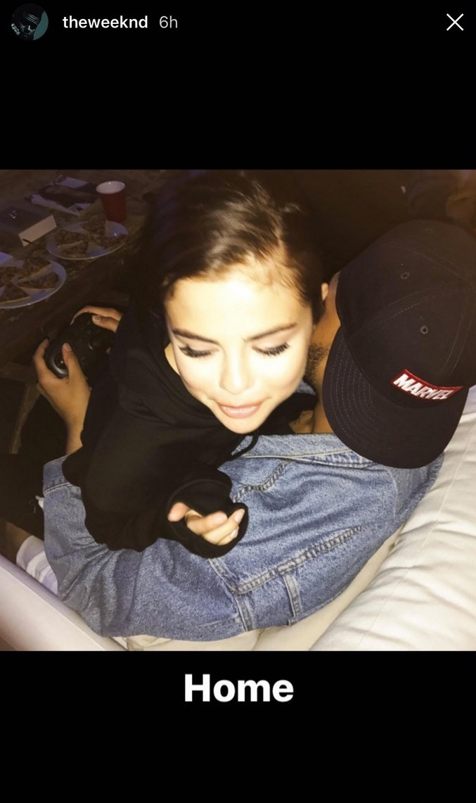 Selena Gomez Cuddles Up With The Weeknd While He Plays Video Games