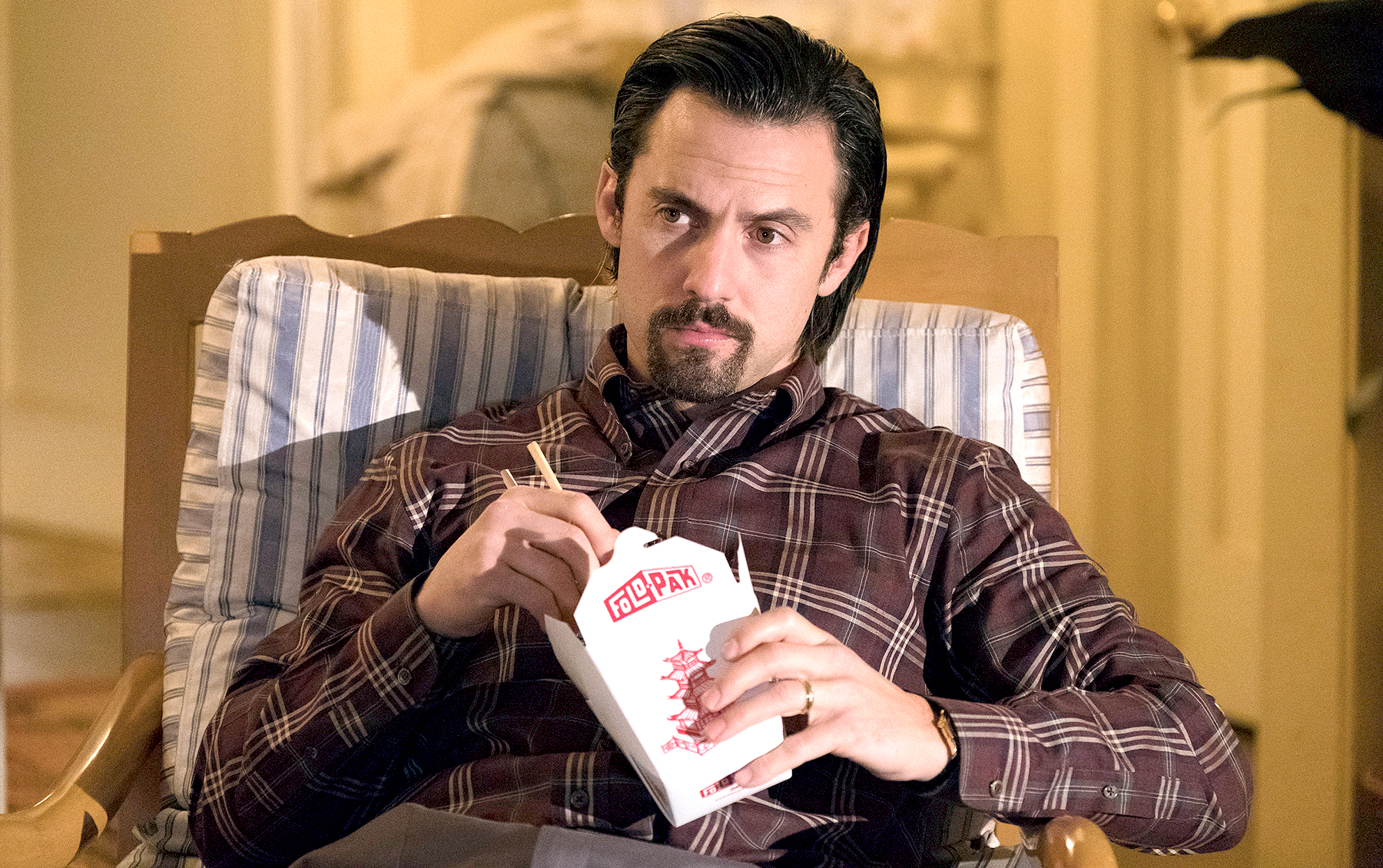 Milo Ventimiglia as Jack on This Is Us.