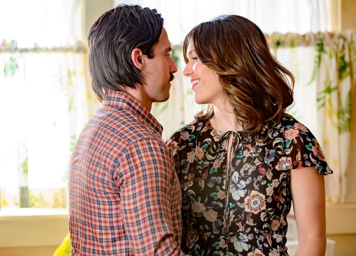 Milo Ventimiglia as Jack Pearson and Mandy Moore as Rebecca Pearson on This Is Us.