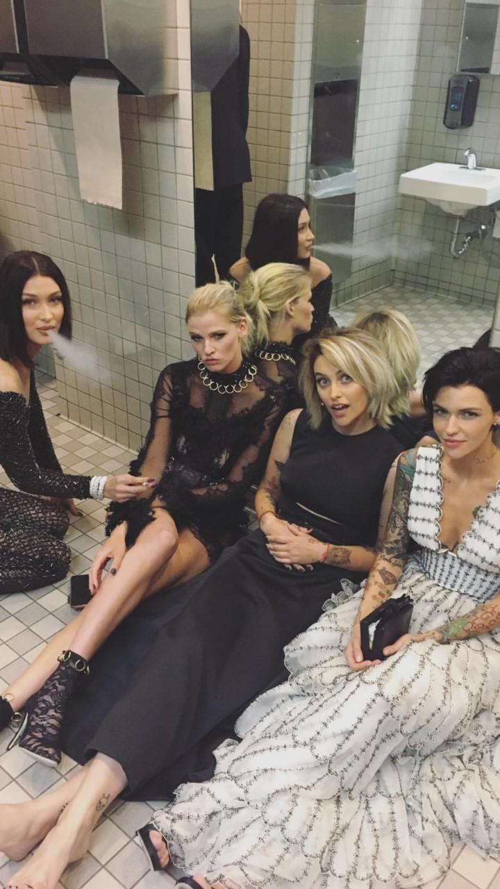 Bella Hadid, Lara Stone, Paris Jackson and Ruby Rose