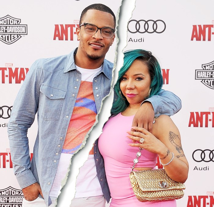 T.I. and Tameka 'Tiny' Cottle-Harris arrive at the premiere of Marvel Studios