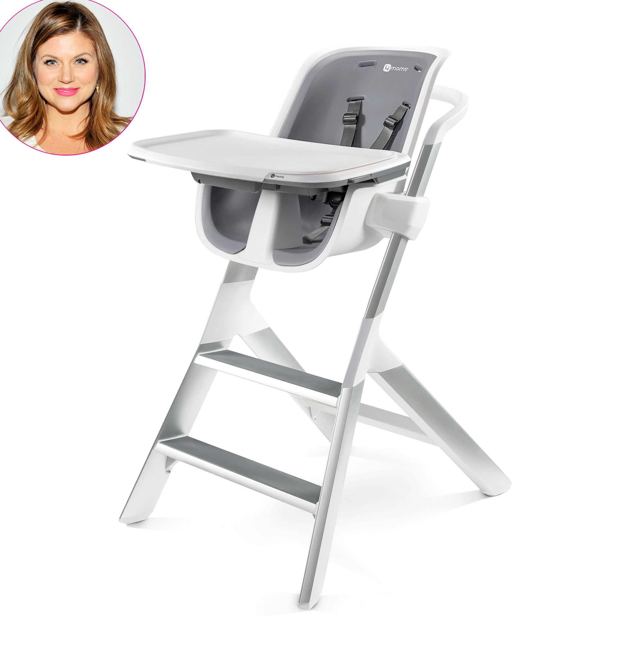 4Moms High Chair White Grey