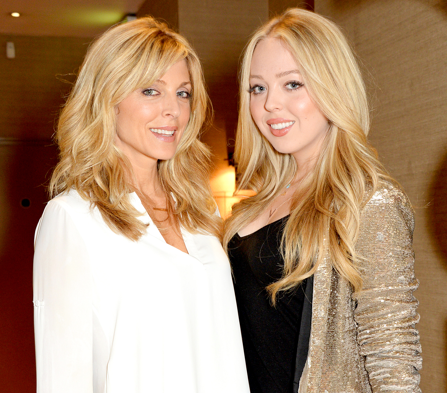 Marla Maples and Tiffany Trump have dinner at Sumosan on July 28, 2014 in London, England.