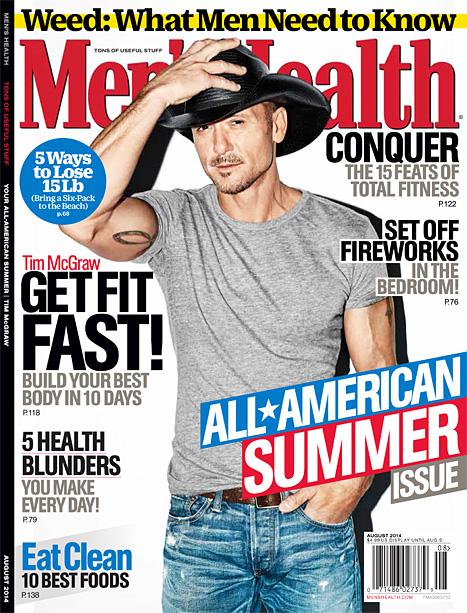 tim mcgraw men's health cover