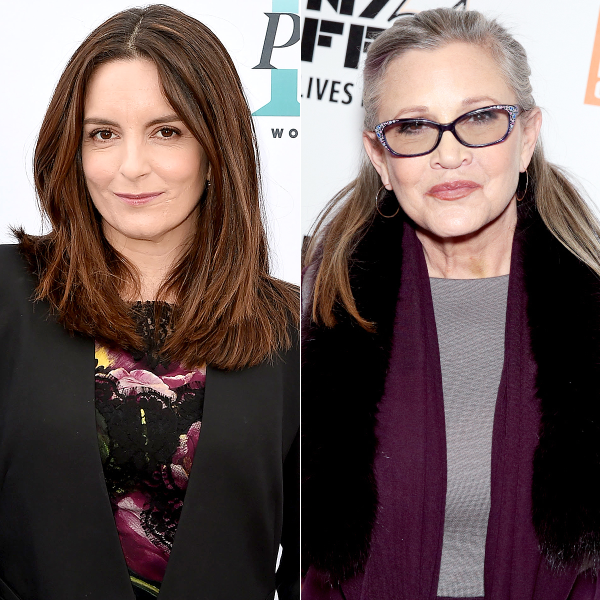 Tina Fey and Carrie Fisher