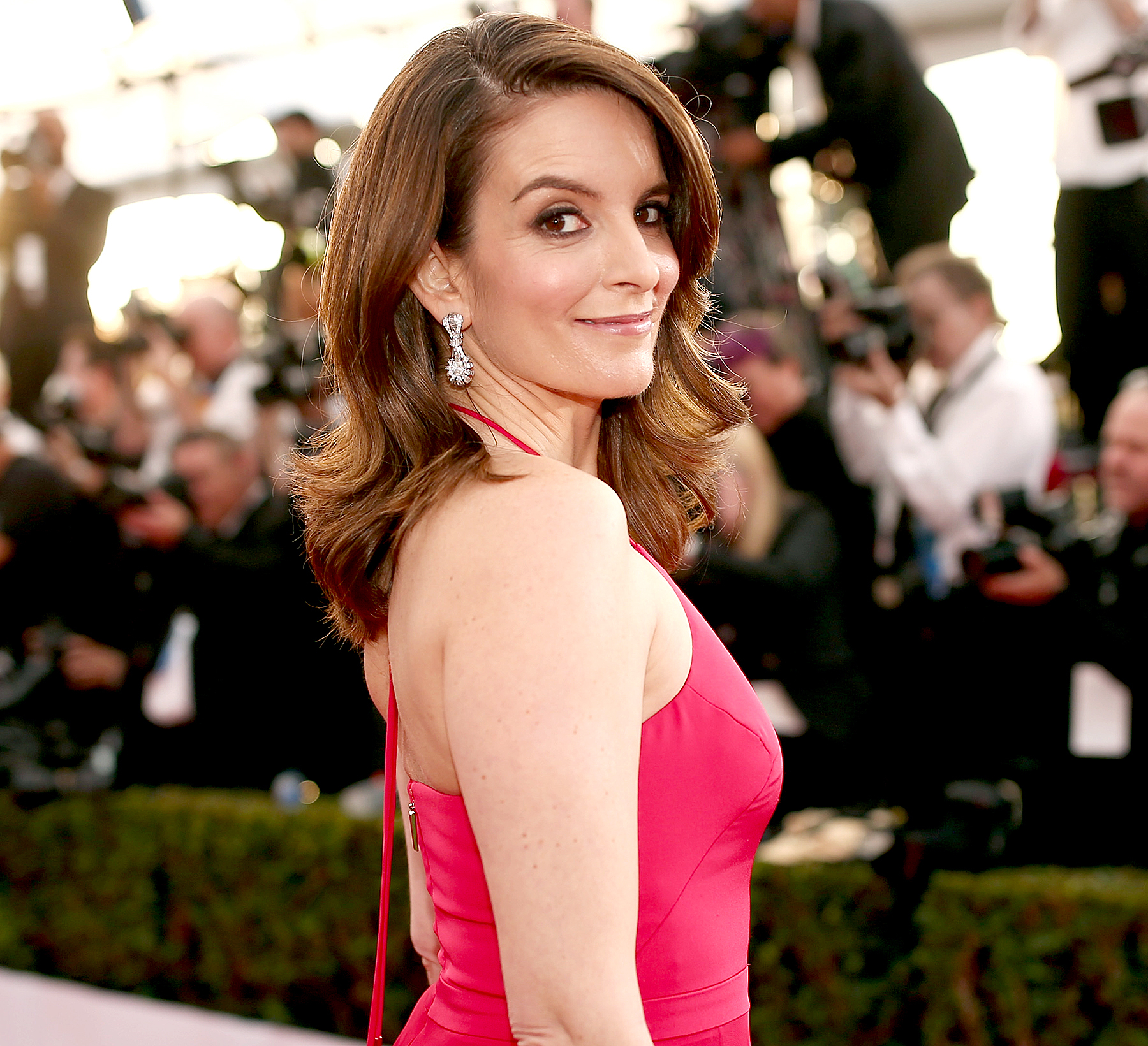 Tina Fey attends The 22nd Annual Screen Actors Guild Awards .