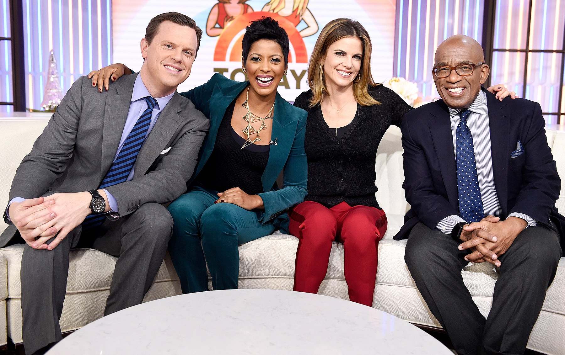Willie Geist, Tamron Hall, Natalie Morales, and Al Roker appear on NBC News'
