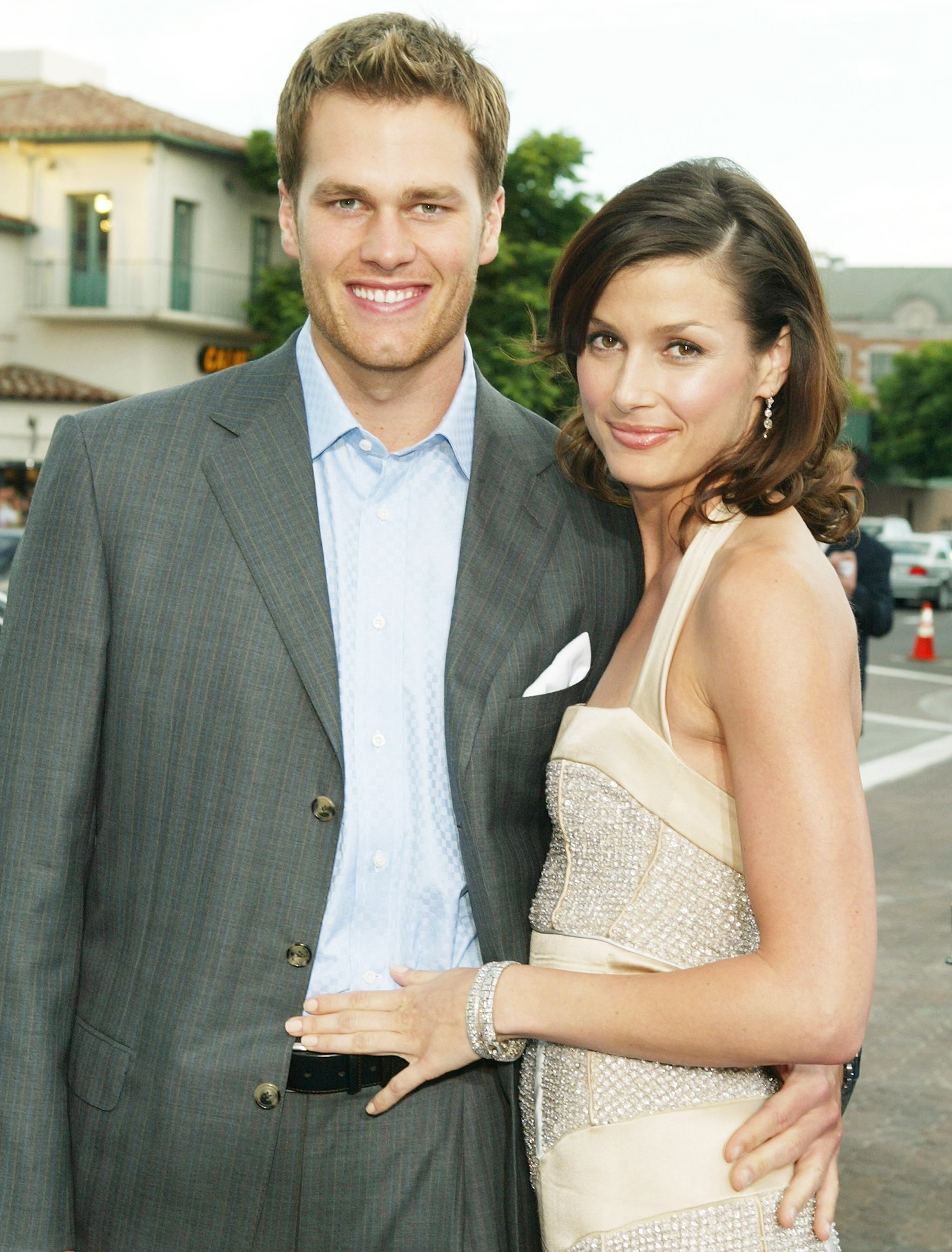 Tom Brady and Bridget Moynahan attend the premiere of 20th Century Fox's