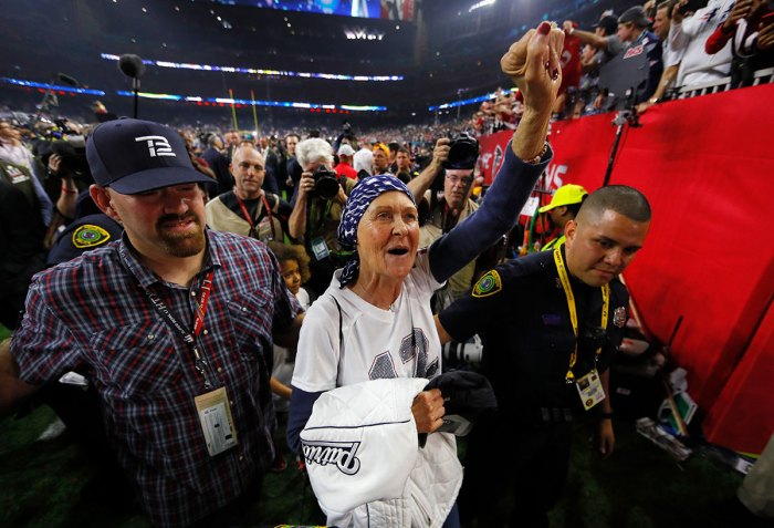 Tom Brady's mom, Galynn, supports her son at the Super Bowl