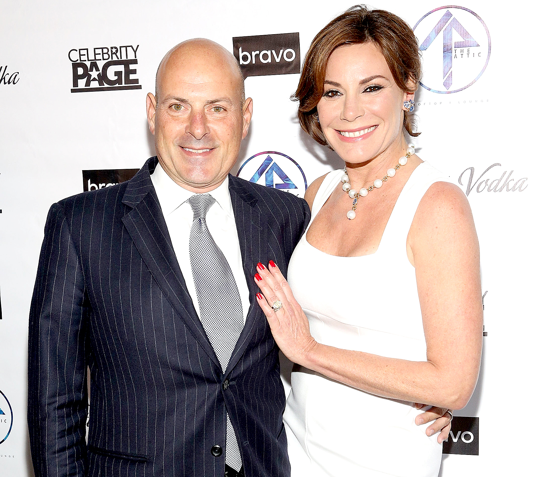Tom D'Agostino and Luann de Lesseps attend 'The Real Housewives of New York City' season 9 premiere party at The Attic Rooftop Lounge in New York City on April 5, 2017.