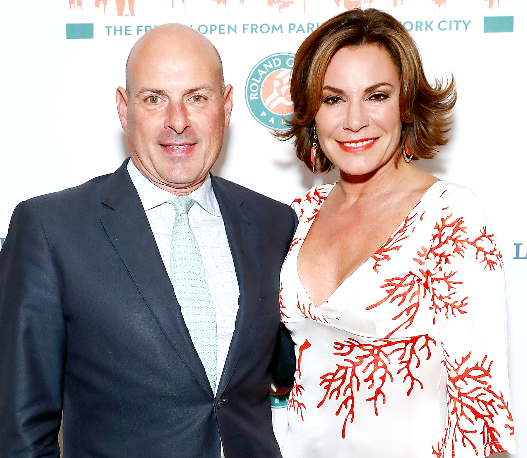 Tom D'Agostino Jr. and Luann de Lesseps attend the Roland-Garros reception at French Consulate in New York City on June 8, 2017.