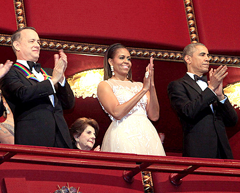 Tom Hanks, Michelle and Barack Obama