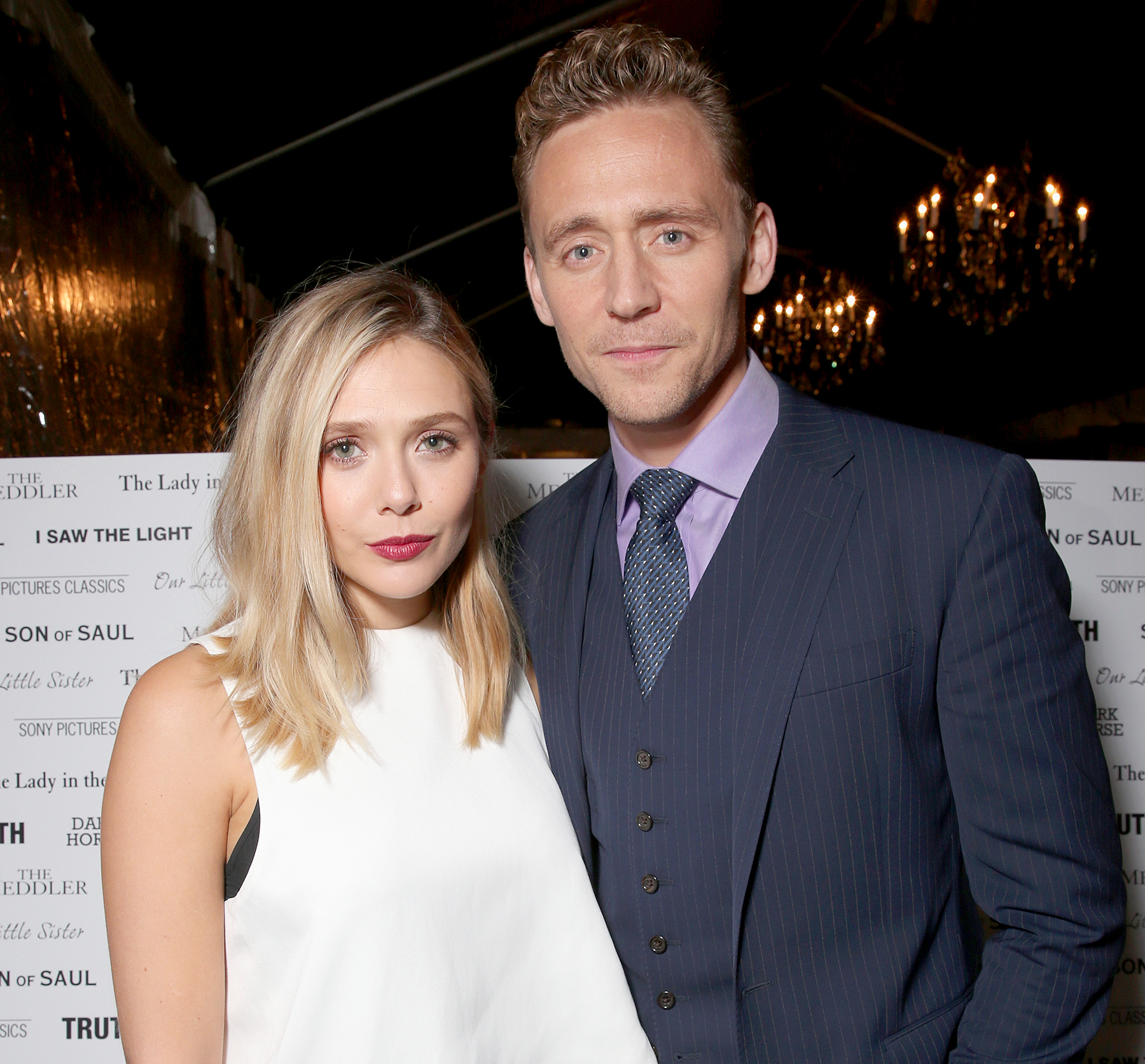 Tom Hiddleston and Elizabeth Olsen attend the Sony Pictures Classics party during the 2015 Toronto International Film Festival.