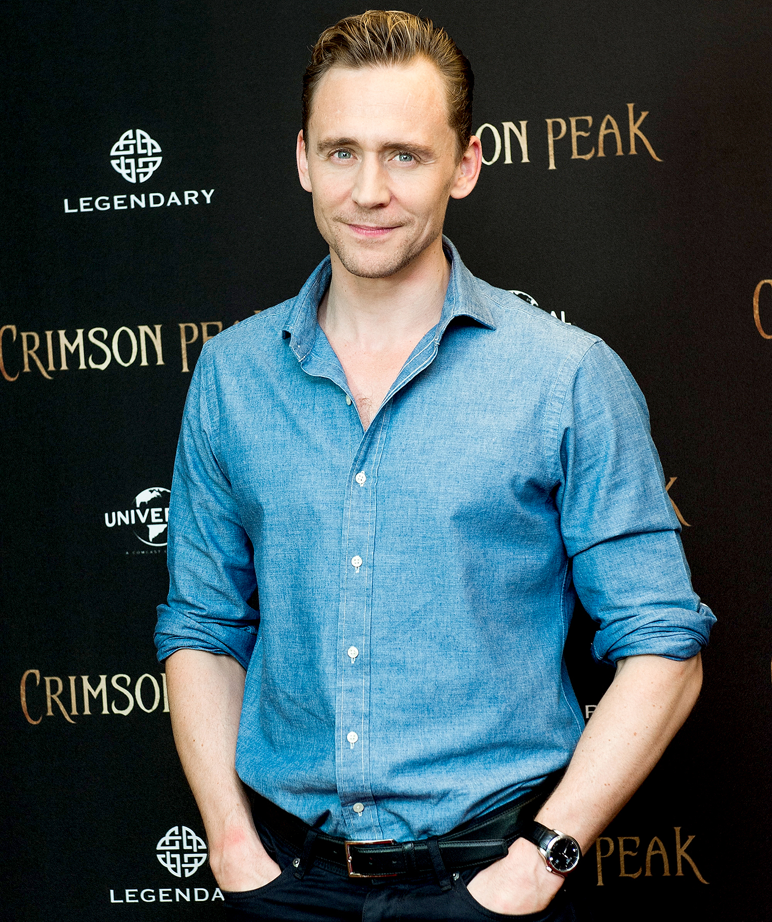 Tom Hiddleston attends the 'Crimson Peak' photo-call at the Regent Hotel on Sept. 30, 2015, in Berlin.