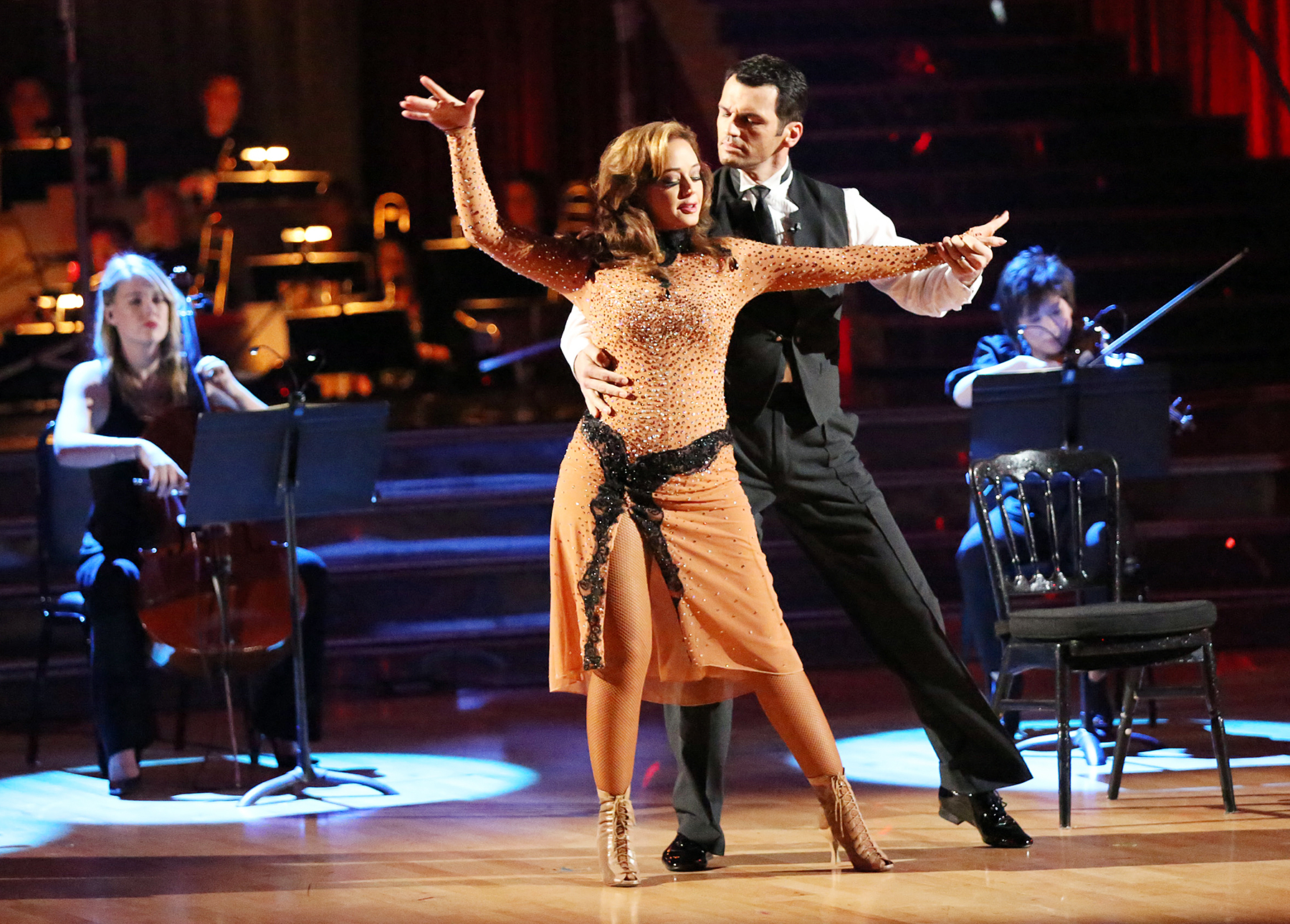 Leah Remini and Tony Dovolani on Dancing With The Stars