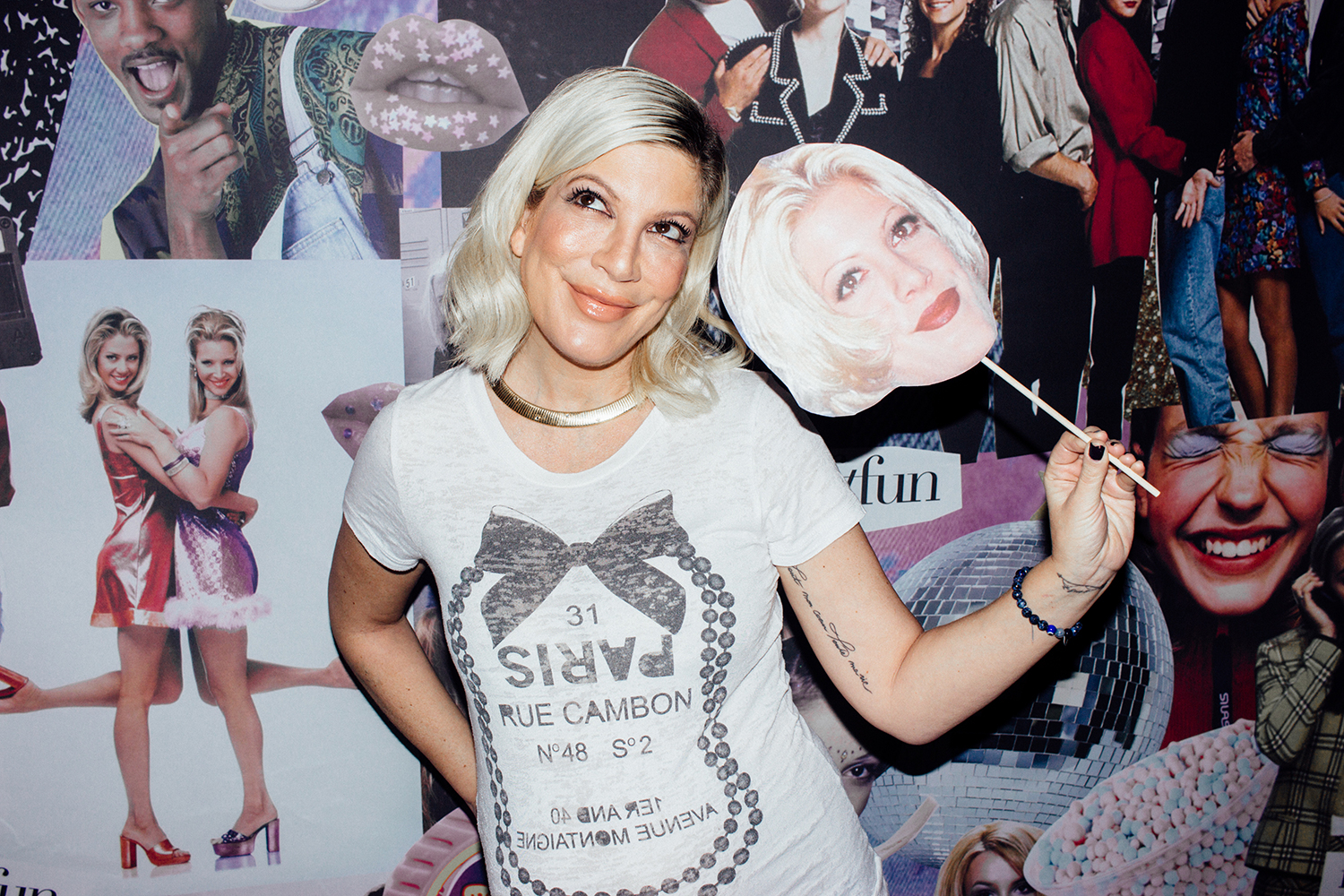 Tori Spelling at Palihouse in West Hollywood
