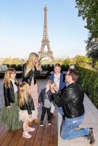 Tori Spelling Dean McDermott Liam Stella Hattie Finn Paris anniversary