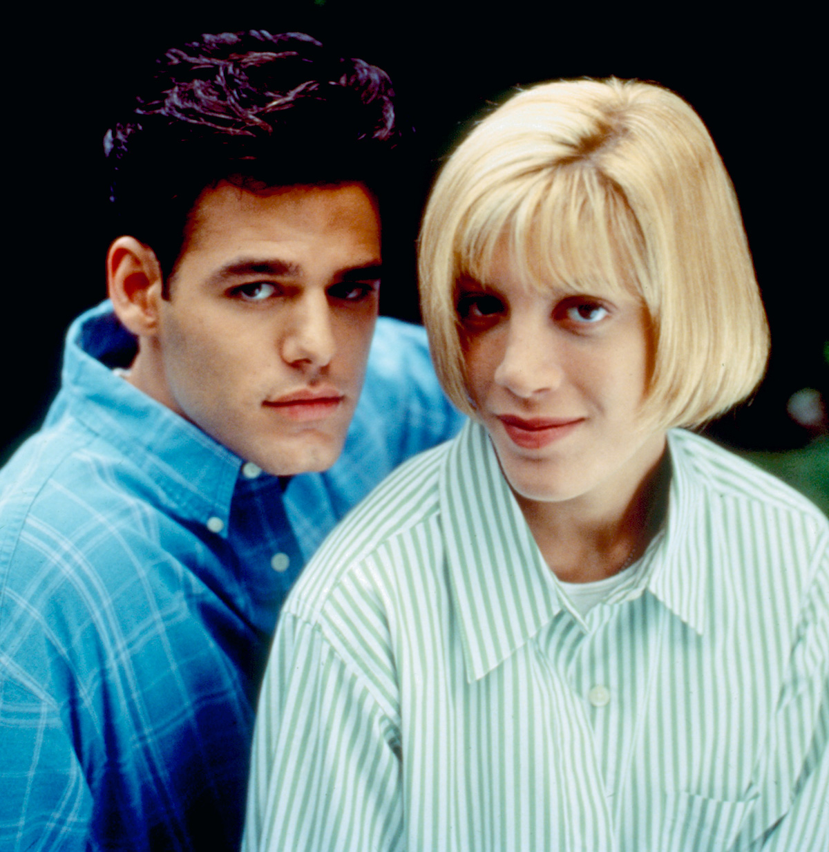 Ivan Sergei and Tori Spelling in 1996's 'Mother May I Sleep with Danger.'