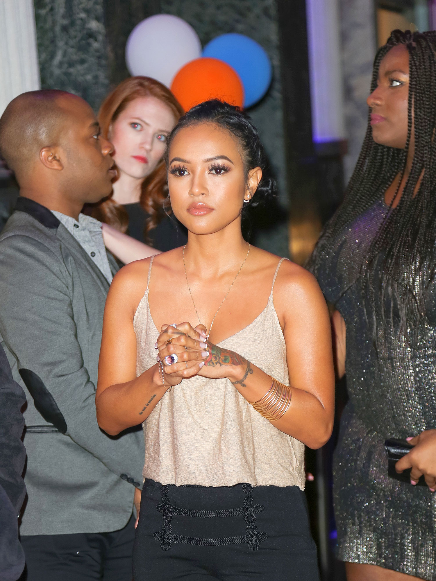 "Karrueche Tran - While cohosting BET's 106 & Park in 2014, Chris Brown's ex made a tasteless joke about Blue. ""I really did wake up like this because my parents never comb my hair,"" Tran quipped."