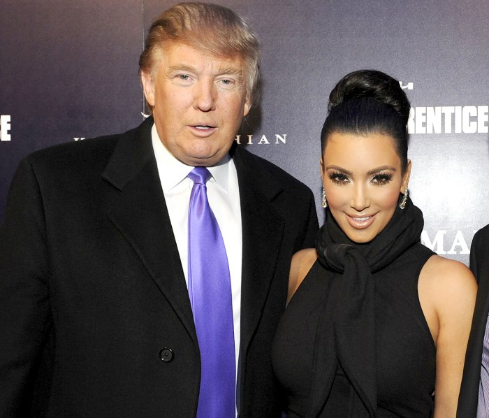 Donald Trump and Kim Kardashian attend the celebration of Perfumania and Kim Kardashian's appearance on NBC's