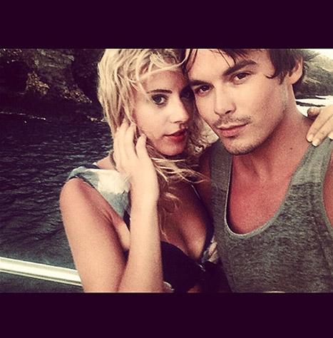 Tyler Blackburn and Lauren Hoover
