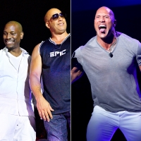 Tyrese, Vin-Diesel and The Rock