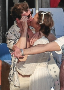 Michael Fassbender and Alicia Vikander at a party pre-wedding in Ibiza.