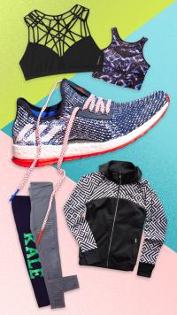 fitness gym sports bra sneakers hoodie leggings workout