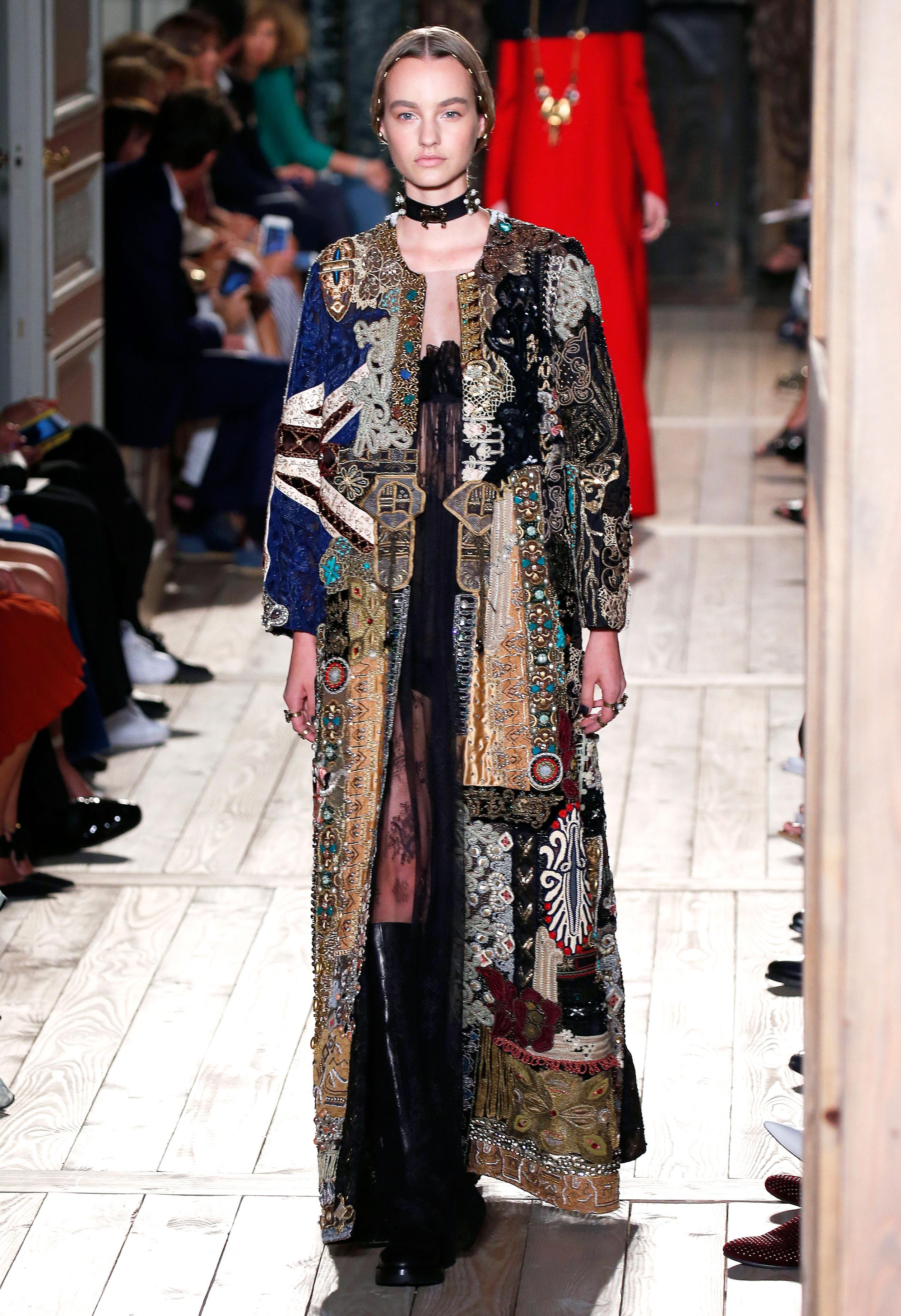 Valentino Designed By Pier Paolo Piccioli And Maria Grazia Chiuri At The Haute Couture Fall Winter 2016 17 Show Estrop Getty
