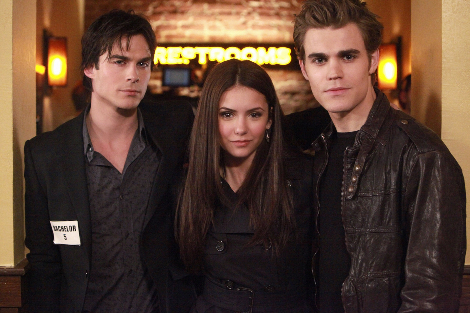 Vampire Diaries Ian Somerhalder, Nina Dobrev and Paul Wesley