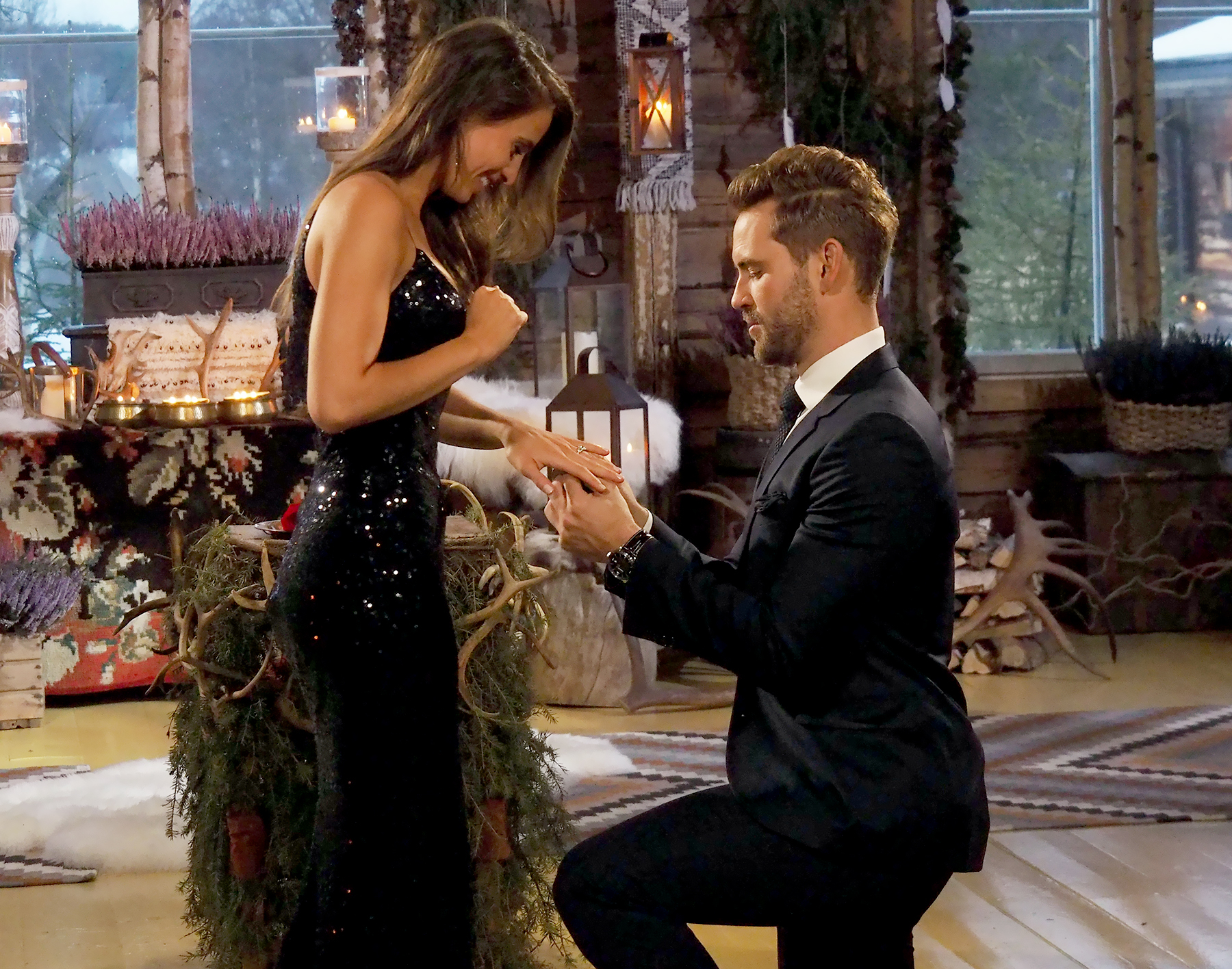 Vanessa Grimaldi and Nick Viall on The Bachelor.