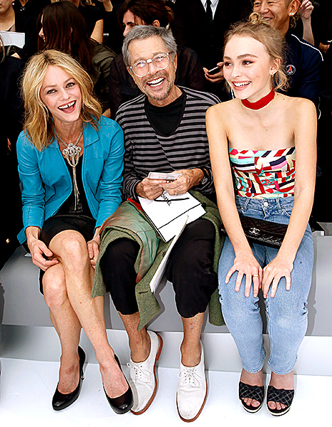 Vanessa Paradis and Lily-Rose Depp - Chanel front row