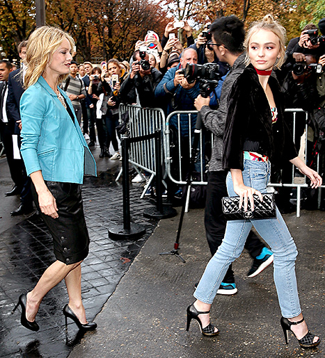 Vanessa Paradis and Lily-Rose Depp - Chanel (walking in)