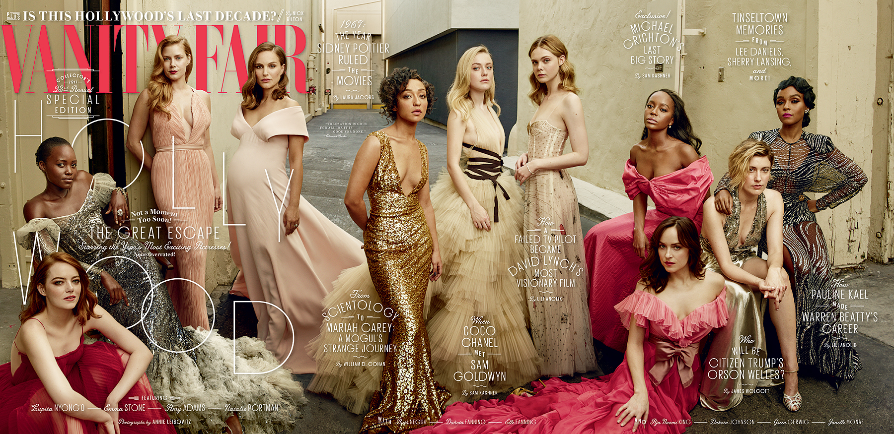 Vanity Fair 2017 Hollywood Issue cover