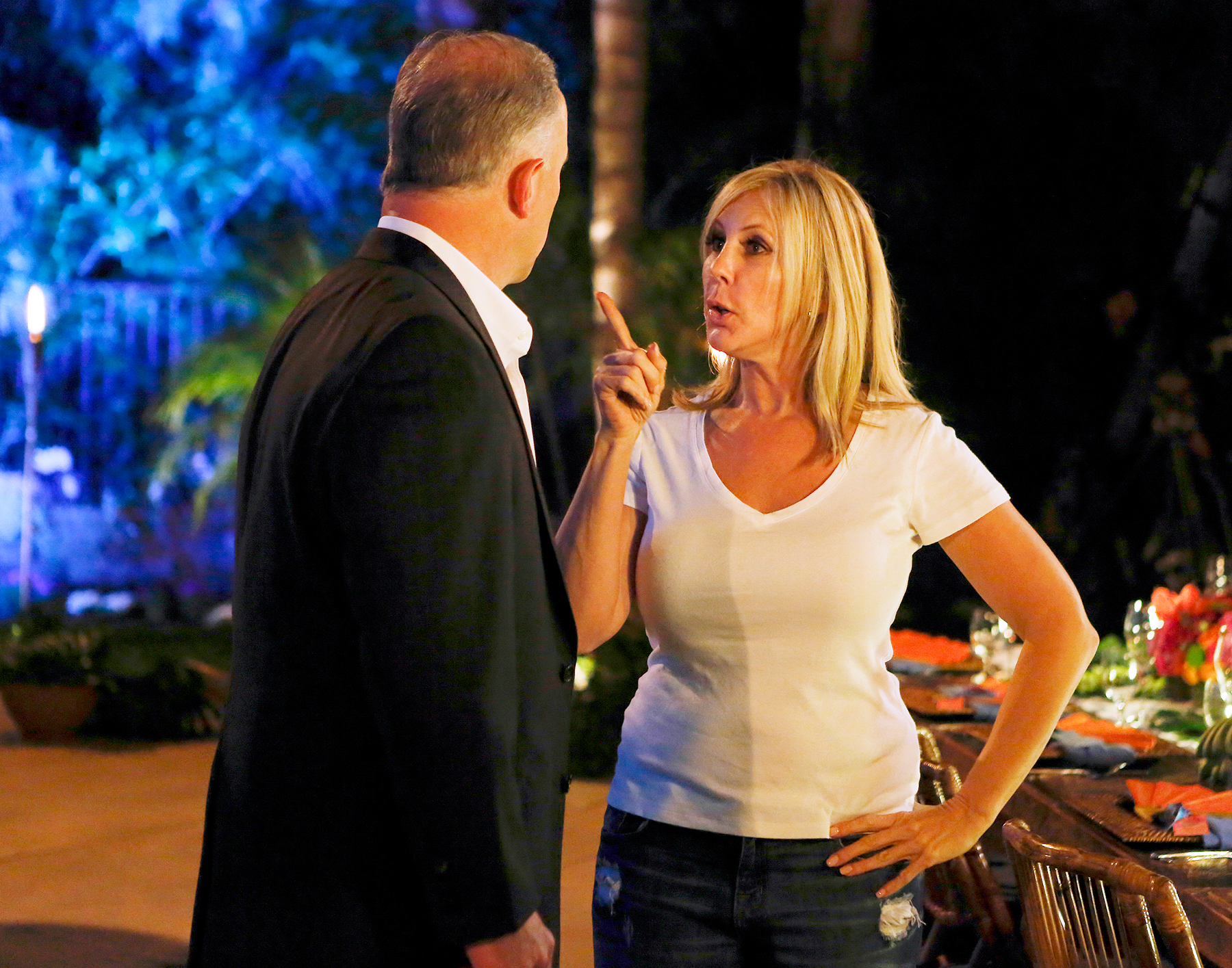 Brooks Ayers and Vicki Gunvalson on The Real Housewives Of Orange County.